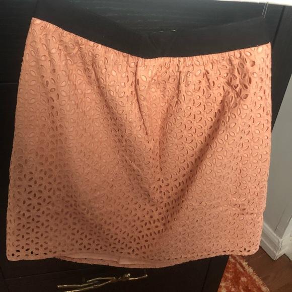 LOFT Dresses & Skirts - Ann Taylor Peach Eyelit Skirt